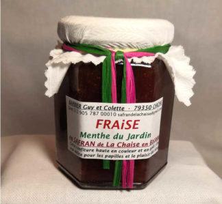 Confiture fraise menthe safran 220 g