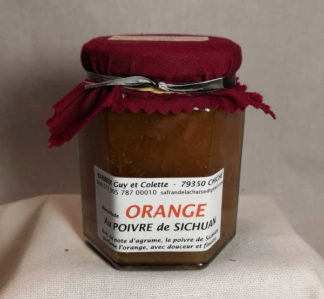 Confiture orange au Poivre de Sichuan 220gr