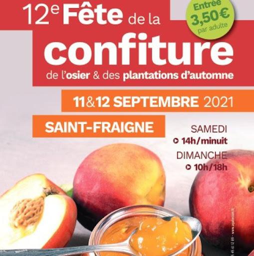 Affiche fête de la confiture à Saint Fraigne